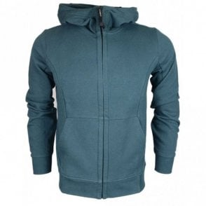 Lens Zip Up Cotton Green Hoodie