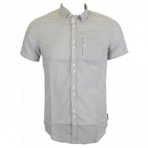 Short Sleeve Cotton Fixed Strip Shirt