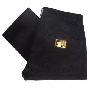 A2JRB005 Regular Fit Stretch Black Jeans
