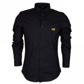 B1JRB621 Slim Fit Poplin Soft Black Shirt