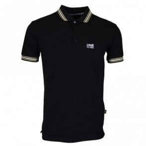 B3JRB718 Jersey Stretch Black Polo