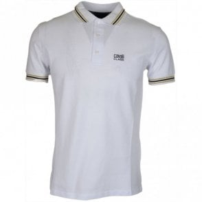B3JRB718 Jersey Stretch White Polo