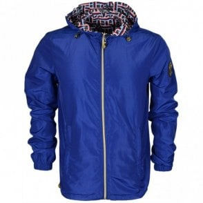 C1JRB902 Reversible Blue/Allover Snake Print Jacket