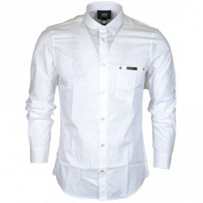 Popeline Yuppie Slim Fit White Cotton Shirt