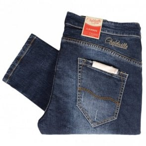 Slim Fit Cannes Hole Blue Jeans