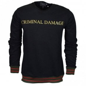 Aldo Cotton Sweat Black/Gold