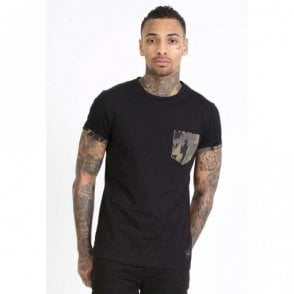 Army Pocket Black T-Shirt