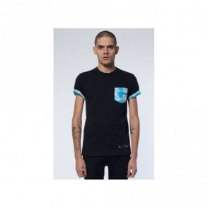 Clouds Pocket Black/Multi T-Shirt