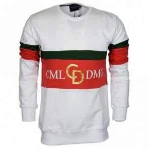 Dolfo Cotton Logo White/Gold Sweat