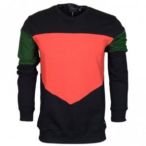 Vasco Cotton Sweat Black/Red
