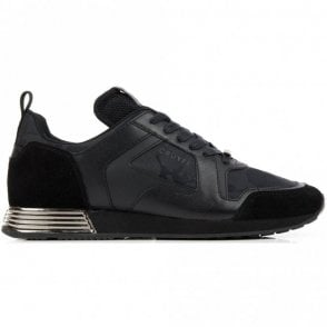 Lusso Lace Up Black Runner Trainer