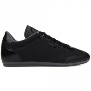 Recopa Lace Up Black Mesh Trainer