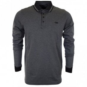 Adams Full Sleeve Cotton Grey Polo