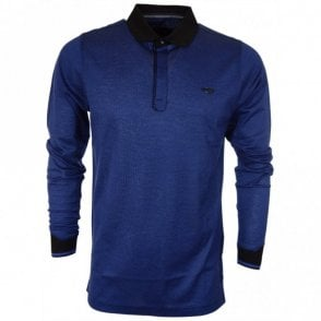 Yates Full Sleeve Cotton Blue Polo