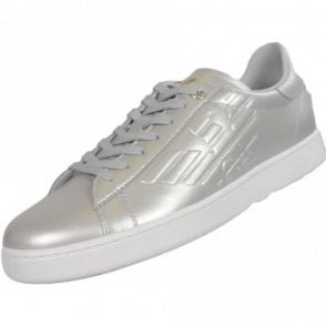 248028 Classic Leather Silver Trainer