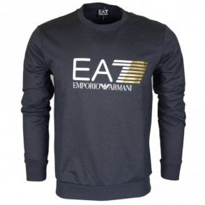 3ZPM60 Round Neck Graphic Logo Anthracite Sweatshirt