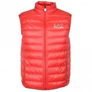 8NPQ01 Ultra-Light Down Racing Red Gillet