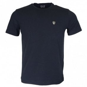 8NPTL7 Cotton Plain Stitched Logo Stretch Navy T-Shirt