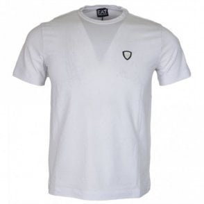 8NPTL7 Cotton Plain Stitched Logo Stretch White T-Shirt