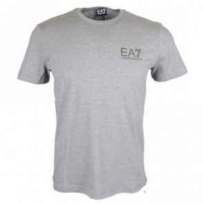 Cotton Printed Stretch Grey T-Shirt