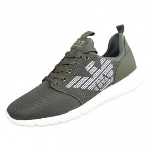 Eagle Logo Khaki Runner Trainer