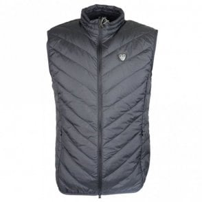 Polyester Zip Up Black Gillet