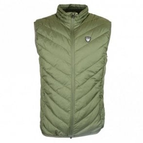 Polyester Zip Up Forest Green Gillet