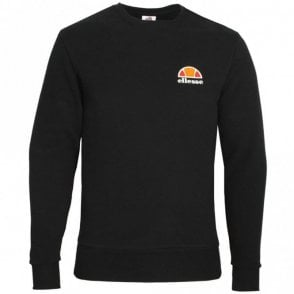 Diveria Cotton Round Neck Regular Fit Black Sweatshirt