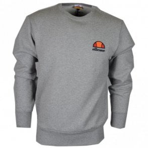 Diveria Cotton Round Neck Regular Fit Grey Marl Sweatshirt