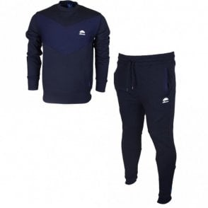 Mennea Pietro Cotton Round Neck Navy Tracksuit