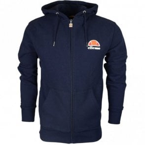Miletto Cotton Hooded Full Zip Navy Hoodie