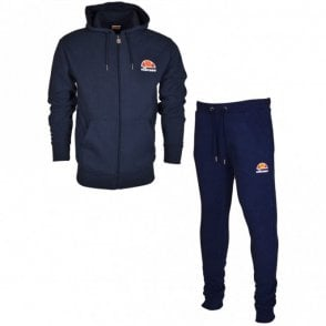 Miletto Ovest Cotton Hooded Zip Navy Tracksuit