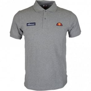 Montura Regular Fit Basic Logo Grey Polo