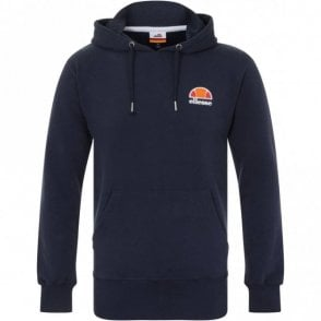 Toce Cotton Logo Navy Hoodie