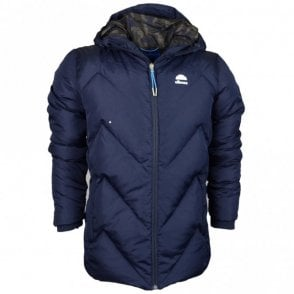 Vito Puffer Zip Hooded Navy Jacket