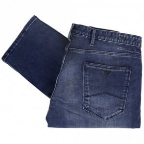 3Z1J06 Slim Fit Mid Wash Denim Blue Jeans