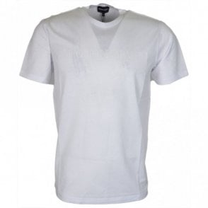 3Z1TM1 Cotton Rubberised Logo White T-Shirt