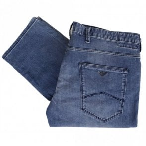 6Z1J06 Slim Fit Stone Wash Denim Blue Jeans