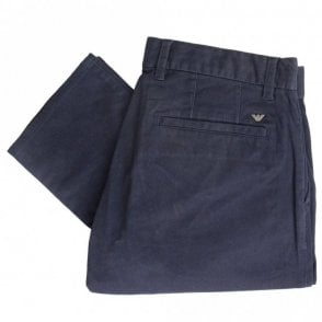 Cotton Navy Chino