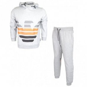 Cotton Overhead Hooded Grey Tracksuit