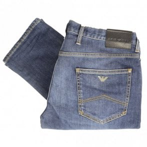 Extra Slim Fit Denim Mid Blue Jeans