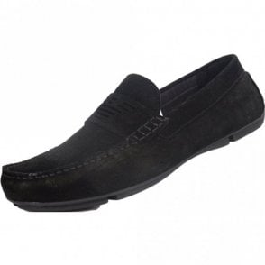 X4B121 XF188 Suede Black Loafers