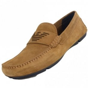 X4B121 XF188 Suede Brown Loafers