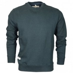 061AN Round Neck Black Shadow Plain Fleece