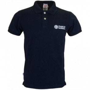 2 button Plain Navy Polo