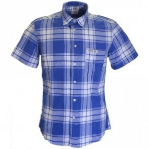 AL318 Hollywood Single Check Blue Shirt