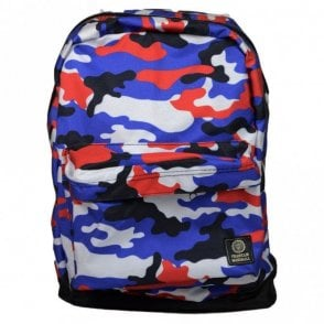 Blue Mulit-Coloured Camoflauge Reversible Backpack