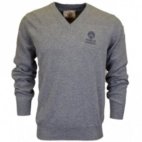 CA042 Wool V Neck Sport Grey Jumper