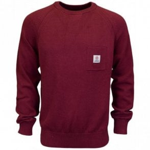 CA043 Round Neck Cotton Amaranto Red Knitwear