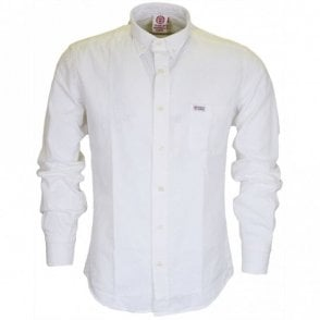 CA303 Martins Long Sleeve White Shirt